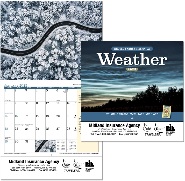 Custom Imprinted Calendar - The Old Farmer's Almanac Weather Watcher's #OF56WE1